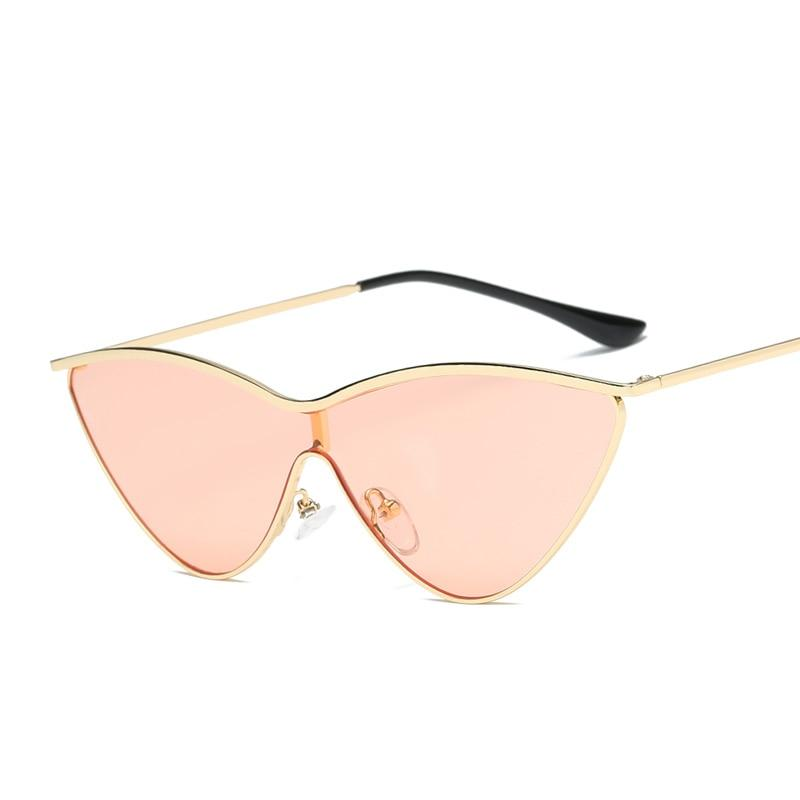 Small Triangle Cat Eye Sunglasses Women Vintage Brand Designer Black Red Cheap Sun Glasses Female 2019 Eyeglasses UV400