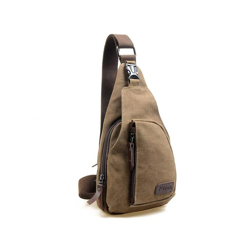 Hot 2019 men canvas good quality chest bag casual messenger bags military handbags design practical shoulder bags for male qn036