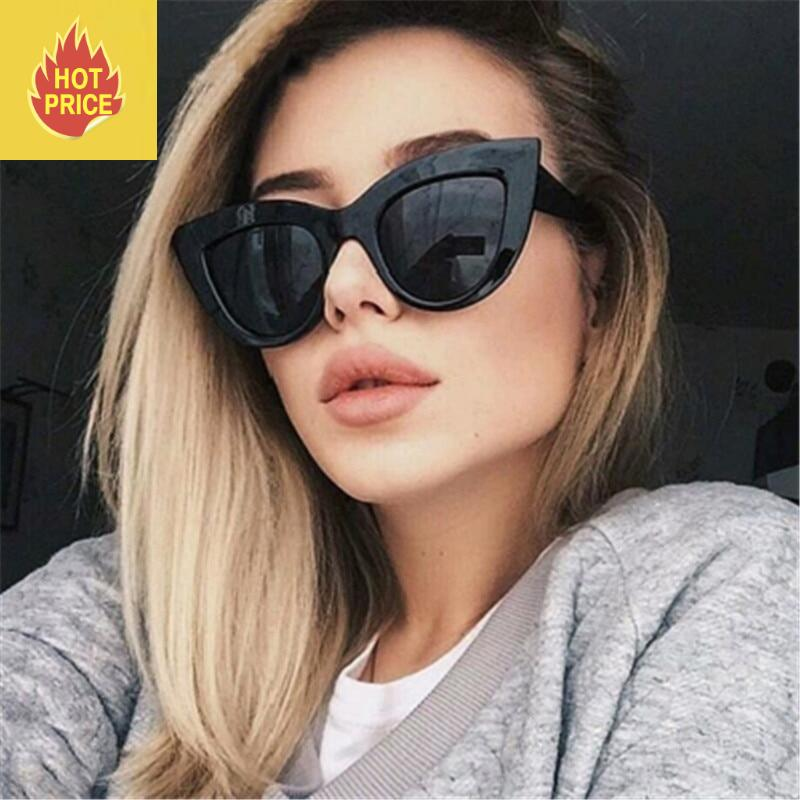 CURTAIN Lunette de Soleil 2019 European and American Retro Cat Eye Sunglasses Trend Wild Style Sun Glasses fation Sunglasses