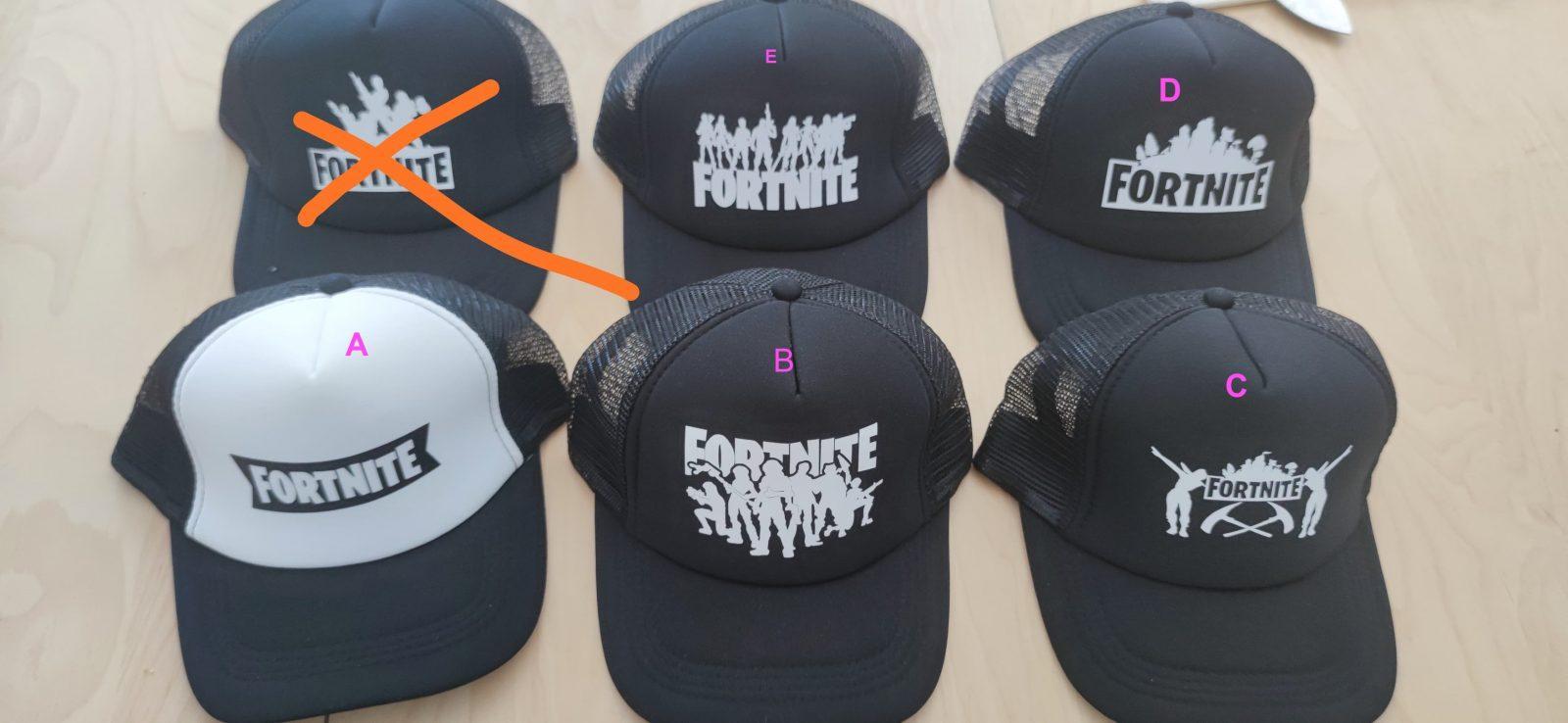 פורטנייט כובע מצחייה שחור/לבן באספקה מהירה