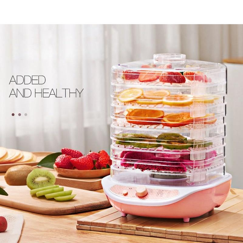 CUKYI Dried Fruit Vegetables Herb Meat Machine Household MINI Food Dehydrator Pet Meat Dehydrated 5 trays Snacks Air Dryer EU US
