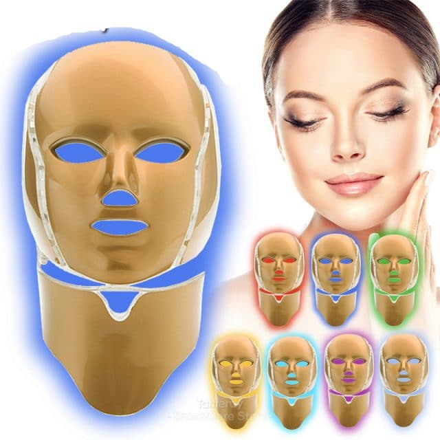 led facial mask face 7 color led mask beauty red light therapy skin care machine led light therapy mask infrared lamp therapy