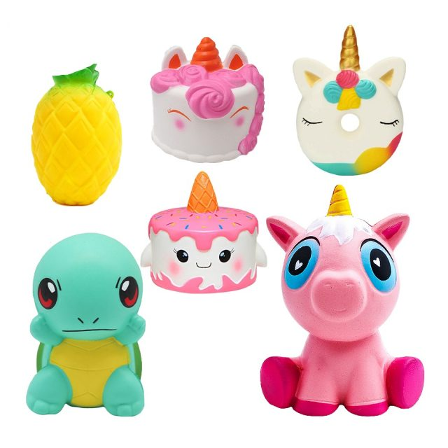 Squishy Toys Slow Rising Unicorn Cake Animal Squishies Cream Scented Slow Rising Squeeze Toys For Kids Gift
